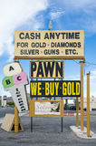 Cash Anytime Pawn Shop Sign Royalty Free Stock Image