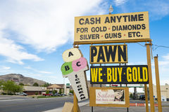 Cash Anytime Pawn Shop Sign Stock Image