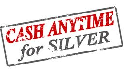 Cash anytime for silver. Rubber stamp with text cash anytime for silver inside, illustration royalty free illustration