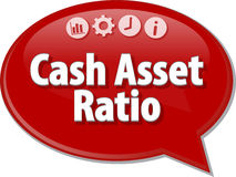 Cash Asset Ratio blank business diagram illustration Royalty Free Stock Photography