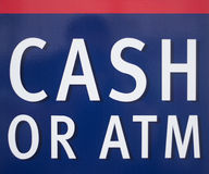 Cash ATM sign Royalty Free Stock Images