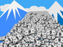 Cash Avalanche Royalty Free Stock Images