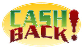 Cash Back. An image of a cash back message Royalty Free Stock Photo