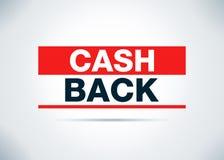 Cash Back Abstract Flat Background Design Illustration royalty free illustration