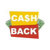 Cash back. Background isolated on white background Royalty Free Stock Photos