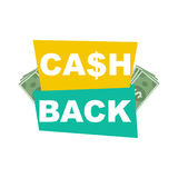 Cash back. Concept  background Royalty Free Stock Image