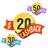 Cash-Back emblem Stock Image