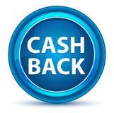 Cash Back Eyeball Blue Round Button royalty free illustration