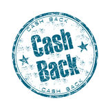 Cash back grunge rubber stamp. Blue grunge rubber stamp with the text cash back written inside the stamp Royalty Free Stock Image