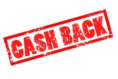 Cash back grunge rubber stamp on white background. cash back red. Stamp text Stock Images