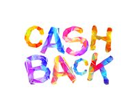 Cash back. Inscription of triangular letters Royalty Free Stock Photos