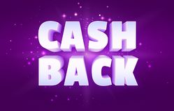 Cash Back the Money Reward Program Banner stock illustration