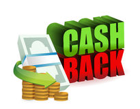 Cash back money sign illustration design Stock Image