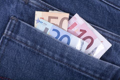 Cash in Back Pocket Stock Photography