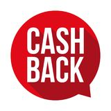 Cash back sign button Royalty Free Stock Photography