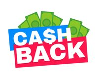 Cash back. Vector modern flat style Royalty Free Stock Photos
