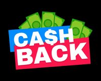 Cash back. Vector modern flat style Royalty Free Stock Image