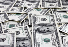 Cash background. (one hundred dollars banknotes Royalty Free Stock Images