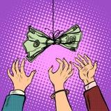 Cash bait vector retro illustration Royalty Free Stock Photo