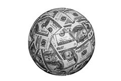 Cash ball Royalty Free Stock Photo