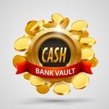 Cash bank vault. coins depository. Stock Photos