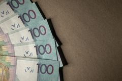 Cash Belarusian money after the devaluation. Salary or credit. Royalty Free Stock Photography