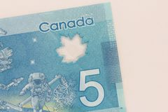 Cash bills from Canadian currency. Dollars. Detail close up shot. Of money from Canada stock photos