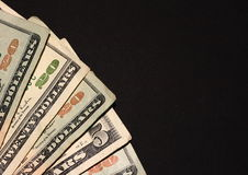 Cash On Black Royalty Free Stock Photo