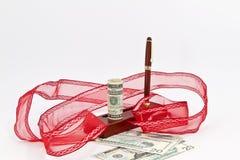 Cash Bonus for the Holidays Royalty Free Stock Image