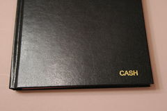 Cash Book. Image of cash book Stock Photos