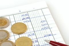 Cash book Stock Photography