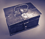 Cash Box. A vintage metal cash box for holding money and other valuables Stock Photography