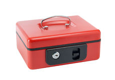 Cash box. Red cash box over white Royalty Free Stock Photos