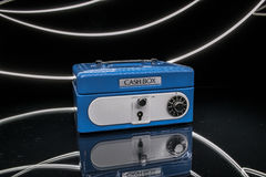 Cash box. Light painting product shot of cash holding box Stock Images