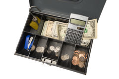 Cash Box Ready For Garage Rummage Yard Sale Business Royalty Free Stock Photos