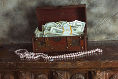 Cash  in a box Royalty Free Stock Photography