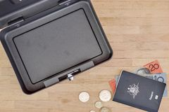 Cash Box. A studio photo of a cash box Stock Photography