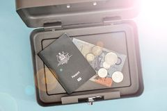 Cash Box. A studio photo of a cash box Royalty Free Stock Image