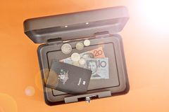 Cash Box. A studio photo of a cash box Stock Images