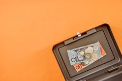 Cash Box. A studio photo of a cash box Stock Photo