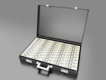 Cash. A briefcase full of Cash Stock Photos