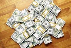 Cash bundles Stock Images
