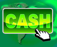 Cash Button Represents World Wide Web And Websites Royalty Free Stock Image