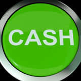 Cash Button Shows Money Savings And Incomes Royalty Free Stock Image