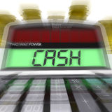 Cash Calculated Means Finances Savings Or Loan. Cash Calculated Meaning Finances Savings Or Loan Royalty Free Stock Photography