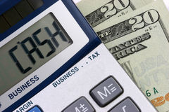 CASH calculator Stock Photography