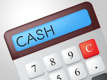 Cash Calculator Means Financial Finances And Revenue Royalty Free Stock Images