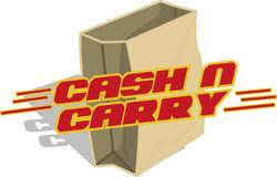 Cash and carry Stock Photo