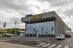 Cash and carry de métro dans Porec, Croatie Photographie stock