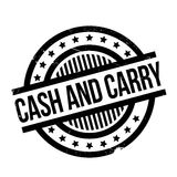 Cash And Carry rubber stamp Stock Image
